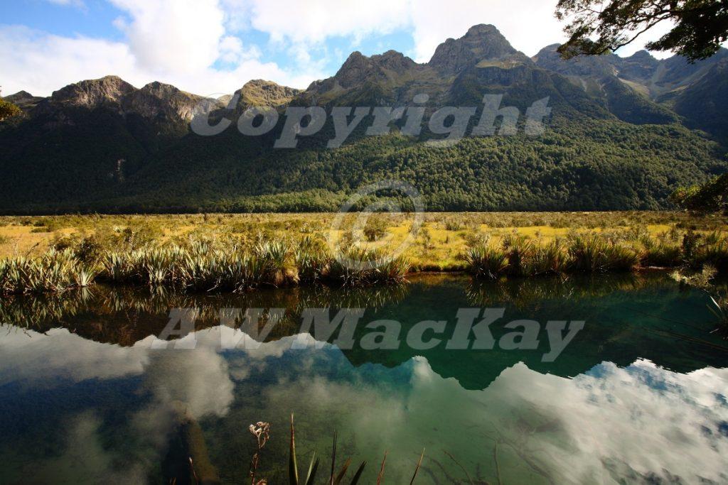 Mirror Lakes Fiordland New Zealand