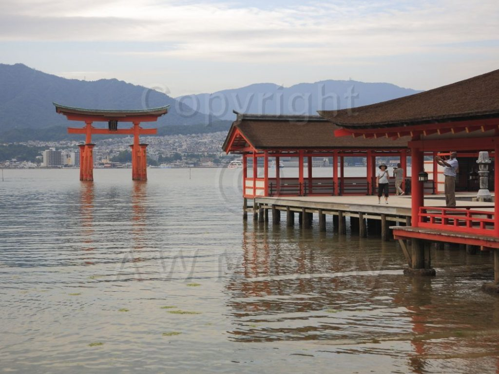 West Hall of Itsukushima and the Great Torii